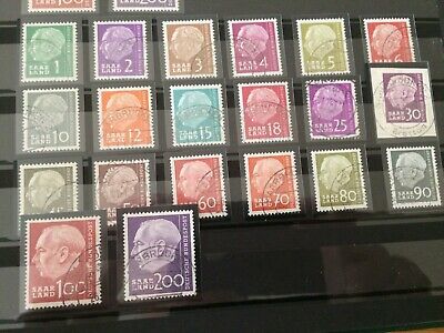 Germany - Saar- 1957 Complete set - Used