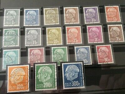 Germany - Saar- 1957 Currency redrawn Complete set - Used