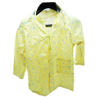 Waterproof Kids Raincoat 4/5 yrs Children Rain Suit Jacket Cover Yellow Medium