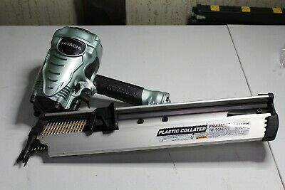 """Hitachi NR90AE(S1) 2"""" to 3-1/2"""" Plastic Collated Framing Nailer 21° NL"""