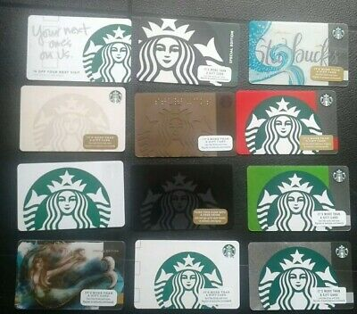 Lot of 12 Different Starbucks Siren, Mermaid Gift Cards Collectible MINT