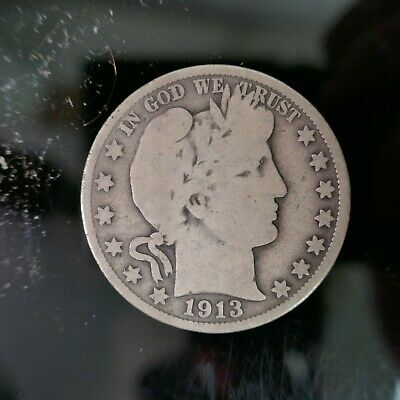 1913-D  50C Barber Half Dollar Better Date!!  #305