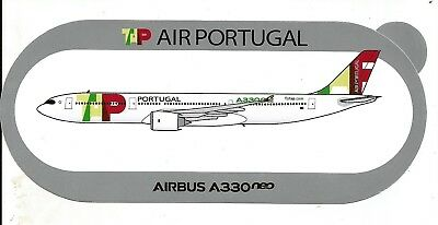 STICKER AUTOCOLLANT AIRBUS A330neo TAP AIR PORTUGAL - Neuf