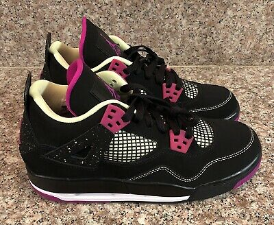 half off bcaba 34168 Air Jordan Retro 4 GS 30th 705344 027 Black Fuchsia Lime Men s Size 7.5  Womens 9