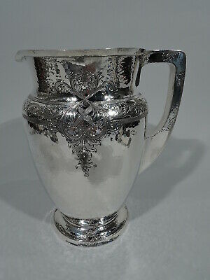 Whiting Water Pitcher - 1385A - Antique Craftsman - American Sterling Silver