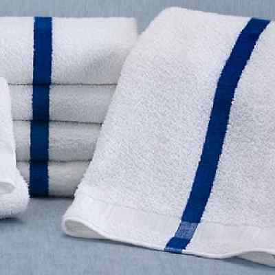 6 white and blue stripe 20x40 blue stripe bath towels 6# Cabana pool towels
