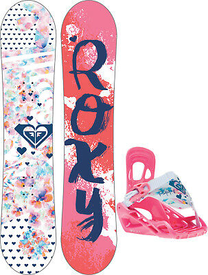 6aaeb86988b4 Roxy Poppy Snowboard w  Poppy Speed Strap Bindings Girls Sz 80cm - XS
