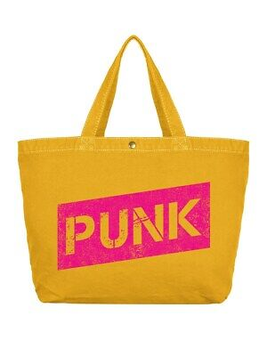 Shopper Bag Punk Large Canvas Yellow 47 x 31 x 13cm
