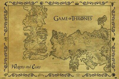 Game of Thrones Poster Antique Map 91.5x61cm