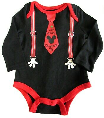 9808a063c DISNEY MICKEY MOUSE Baby Boys Bodysuit 3 6 Months My First Mickey ...