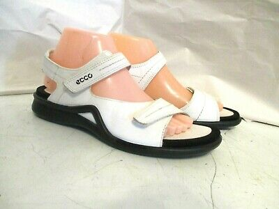 52e489440805 WOMEN S ECCO WAVE white leather sport sandal comfort EU 40 US 9 9.5 ...