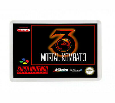 Mortal Kombat 3 Super Nintendo Fridge Magnet Iman Nevera