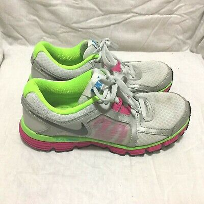 38a1a7c170ee3 NIKE DUAL FUSION St2 Running Shoes - Grey Green Pink ( Size 7 ) Women`s