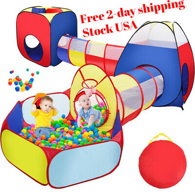 Kids Tunnel Tent Toddlers Outdoor Play Ball Pit Babies 5pcs Set Pack Us Hq