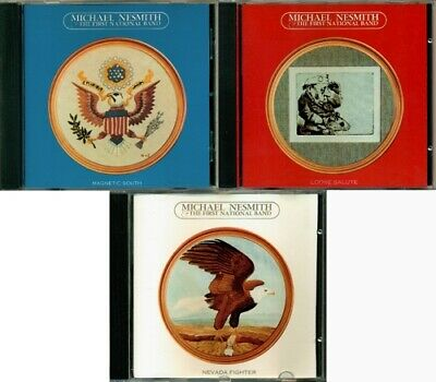 Michael Nesmith - Magnetic South / Loose Salute / Nevada Fighter RARE ORIG 3 CDs