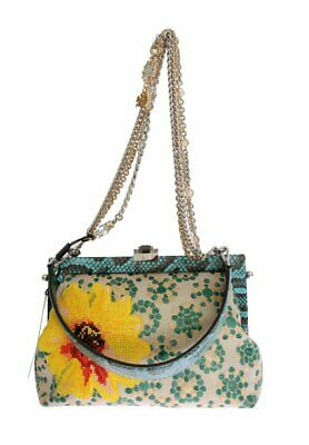 ce4462b0e7e8 NEW  6800 DOLCE   GABBANA Bag VANDA Floral Embroidered Crystal ...