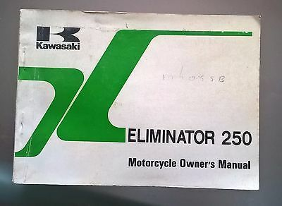 Kawasaki Eliminator EL250 B2 Motorcycle Owners Manual