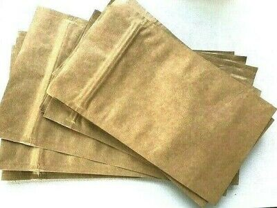 SPECIAL OFFER Eco-friendly Foil lined Kraft Pouch Bags size 110 mm x 180 mm