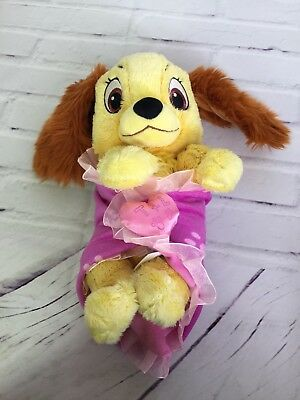 Disney Parks Exclusive Babies 10in Lady Baby Plush Stuffed Animal Toy & Blanket