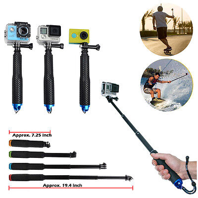 for Gopro Hero  4 3+ SJ400 Tripod  Waterproof Monopod Selfie Stick Pole Handheld