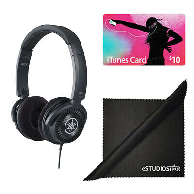 Yamaha HPH-150B Headphones (Black) w/Polishing Cloth & Apple iTunes Card $10
