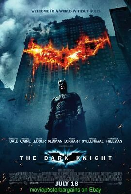 DARK KNIGHT MOVIE POSTER Double Sided 27x40 Inch CHRISTOPHER NOLAN Directed