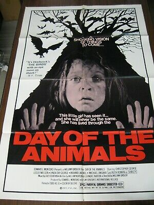 DAY OF THE ANIMALS orginal 1977 ONE SHEET POSTER cult movie HORROR nice RARE!