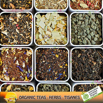 Premium Tea Blends & Botanicals Plus Sample Packs ~Certified Organic~ Loose Leaf