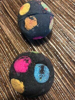 NEW 2 X Lush World's Smallest Disco Bath Bomb - Naked