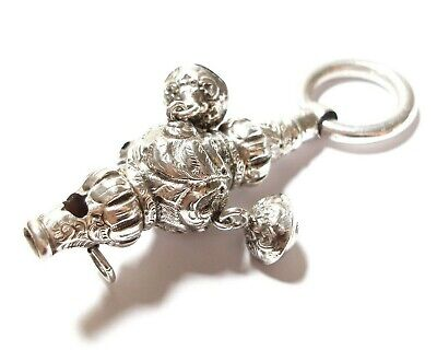 Beautiful Antique Victorian Silver Rattle