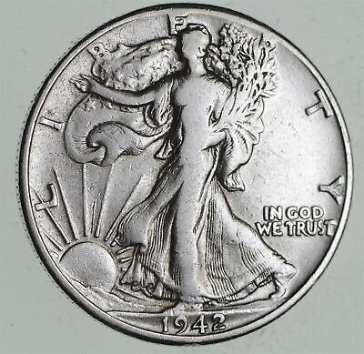 Strong Feather Details - 1942 Walking Liberty Half Dollars - Huge Value *363