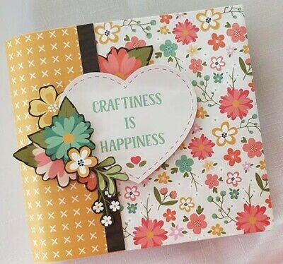 Handmade Mini Album - Craftiness is Happiness - would make a great gift!