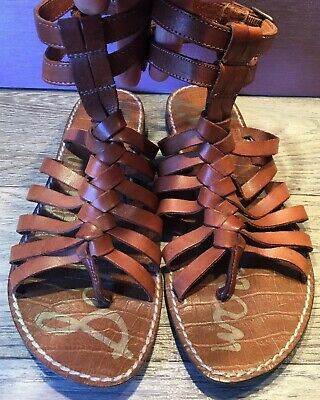 bc070c2a75a Sam Edelman  Greco  Womens Gladiator Sandals Brown Leather Size 6.5M Great