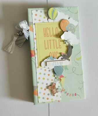 Handmade Mini flip Album - Baby Boy  - would make a great gift!