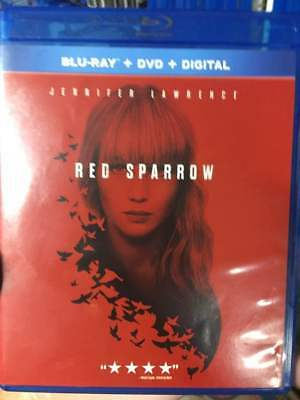 Red Sparrow Blu-Ray No DVD/Digital/Slip Like New FAST FREE Combine Shipping