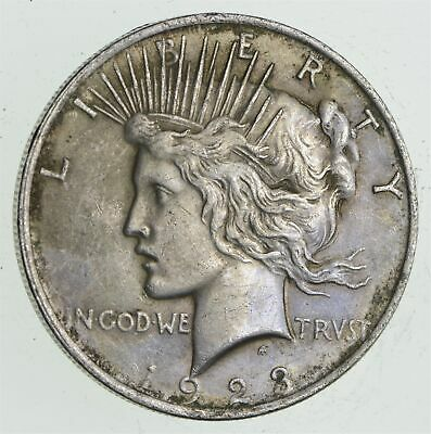 Early - 1923 - Peace Silver Dollar - 90% US Coin *669