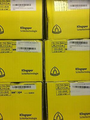 New Klingspor 60 or 80 Grit 10 Pack - Abrasive Mop Flap Disc SMT324 - 4 1/2x7/8""