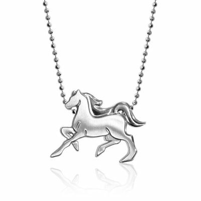 dc1513e584941 Alex Woo Little Horse Zodiac Pendant Necklace in Sterling Silver