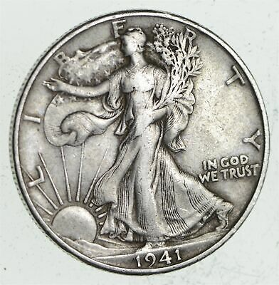 Strong Feather Details - 1941-D Walking Liberty Half Dollar *222