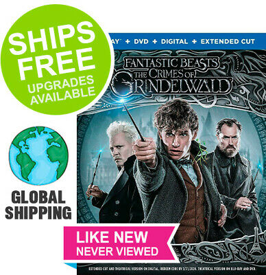 Fantastic Beasts the Crimes of Grindelwald (DVD + Digital) NO BLU-RAY DISC