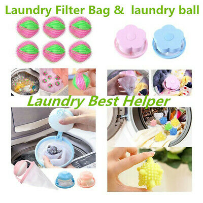 Washing Machine Laundry Bag/Ball Floating Pet Hair Catcher Mesh Pouch Remover