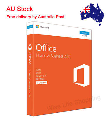 Microsoft Office Home and Business 2016 Full Version Product Key With DVD 1PC