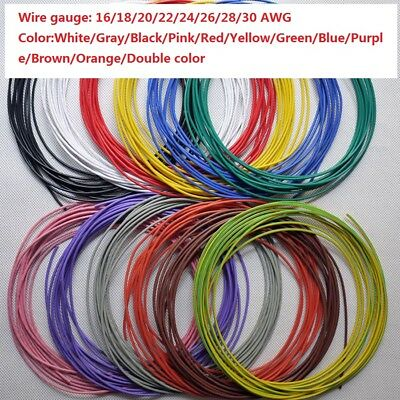 UL1007 Flexible Electronic Wire 16AWG~30AWG RC Cable Resistant High Temperature