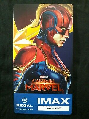 Captain Marvel IMAX Regal Collectible Ticket ! 100 Of 1,000 ! Week 2 !