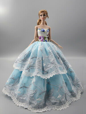 Fashion Princess Party Dress/Evening Clothes/Gown For 11.5 inch Doll b01