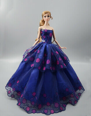 Fashion Princess Party Dress/Evening Clothes/Gown For 11.5 inch Doll b06