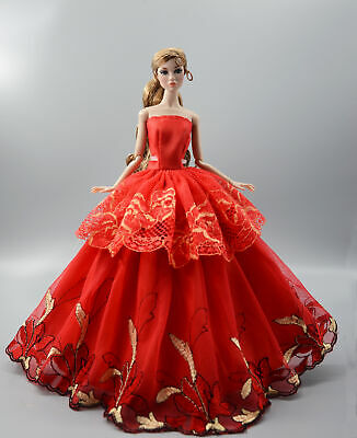 Fashion Princess Party Dress/Evening Clothes/Gown For 11.5 inch Doll b12