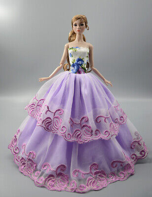Fashion Princess Party Dress/Evening Clothes/Gown For 11.5 inch Doll b16
