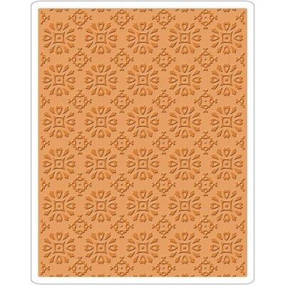 Sizzix Texture Fades A2 Embossing Folder by Tim Holtz - Rosettes