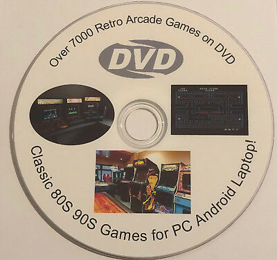Over 7000 Retro Arcade Games on DVD Classic 80S 90S Games for PC Android Laptop!